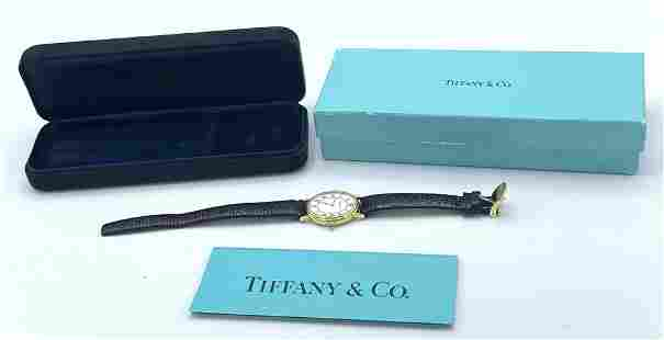 14K Gold Tiffany and Co Wrist Watch with Box.