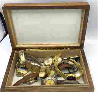 10pcs Wrist Watches. Gruen, Wittnauer, Omega, Tissot,