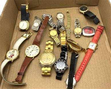 16pcs Wrist Watches. Swatch, Peugeot, Nixon, Etc.