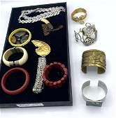 Mixed costume jewelry Lot. Mostly bracelets. Coro. Doub