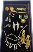 Mixed Costume Jewelry Lot CINER Rhinestone fringed ne