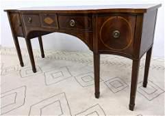 Banded Mahogany Hepplewhite Style Sideboard Cabinet Se