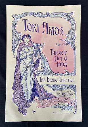 Tori Amos with the Devlins Concert Poster at the Bradle