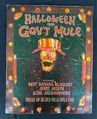 GovÕt Mule Halloween 1999 Concert Poster at the House o