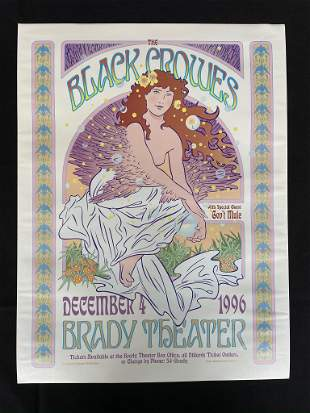 The Black Crowes Concert Poster with Special Guest GovÕ