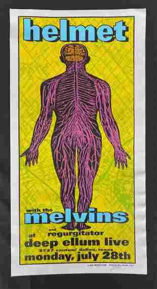 Helmet Concert Poster with the Melvins at Deep Ellum Li