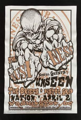 The Business Concert Poster with Special Guess Unseen t
