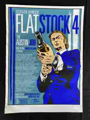 FlatStock 4 the Austin Job Concert Poster March 19 and