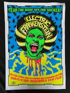 Electric Frankenstein Concert Poster and Guests March 2