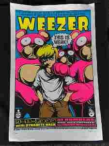 Weezer Concert Poster September 11 2000 with Dynamite H