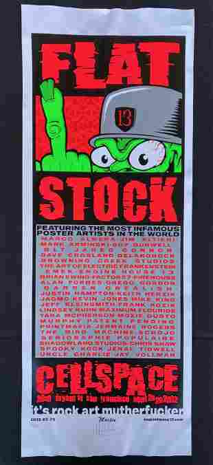 Flatstock 13 Artist Signed and Numbered Concert Poster