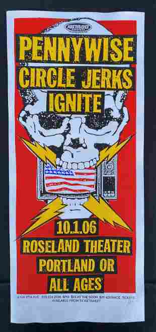 Pennywise. Circle Jerks. Ignite. Concert Poster October