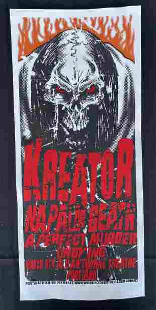 Kreator and Guests Concert Poster March 6 2006 Artist S
