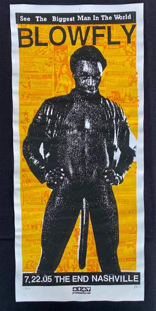Blowfly. Concert Poster July 22 2005 Artist Signed and