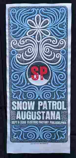 Snow Patrol Concert Poster August ana at the Electric F