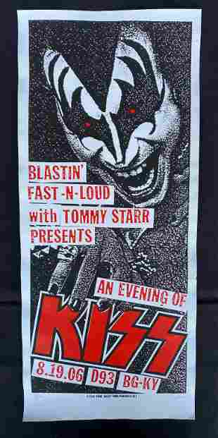 Kiss Concert Poster August 19 2006 Artist Signed and Nu