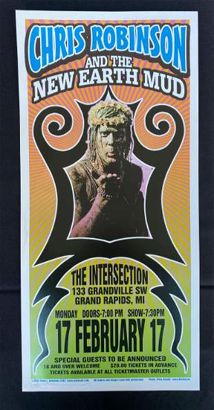 Chris Robinson and the New Earth Mud Concert Poster Feb