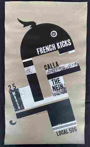 French Kicks and Guests Concert Poster March 25 Artist