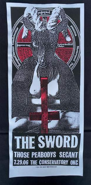 The Sword Concert Poster July 29 2006 Artist Signed and