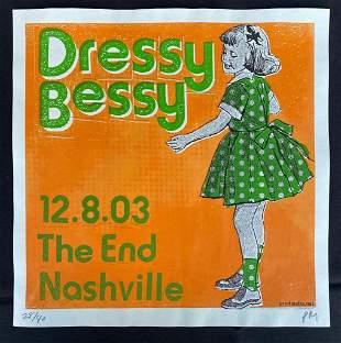 Dressy Bessy Concert Poster December 8 2003 Artist Sign