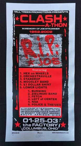 The Clash Concert Poster January 25 2003 at the Factory