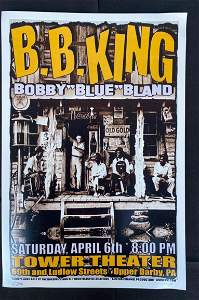 Bb King Saturday Concert Poster April 6 Artist Signed a