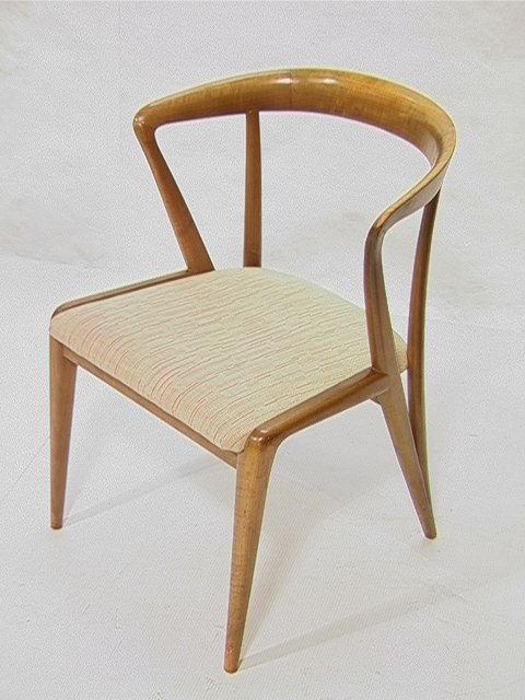 9: Gio Ponti for Singer and Sons Side Chair.  Curved