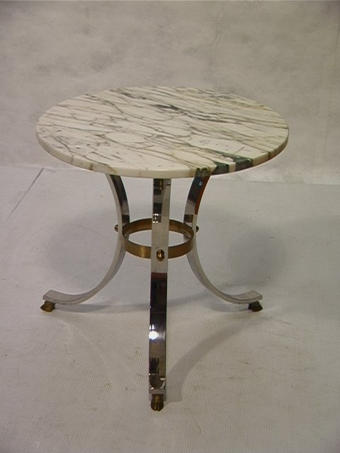 16: Mason Jansen Marble Top Side Tabouret Table with