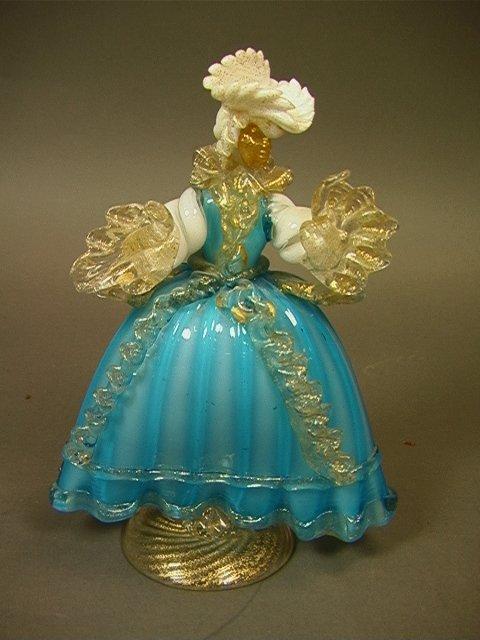 19: Barovier and Toso Italian Murano Art Glass Figure