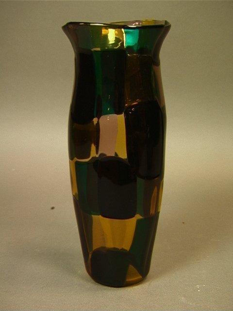 21: Fulvio Bianconi for Venini Pezzato Vase with Flar