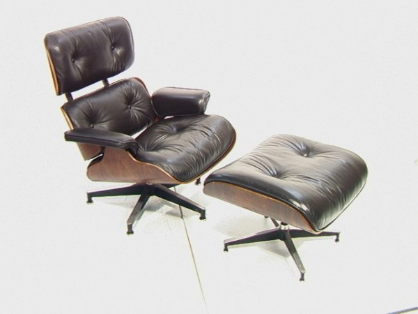 51: EAMES Herman Miller Rosewood Lounge Chair and Ott