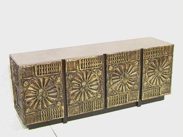 68: Paul EVANS Style Bronzed Goop Sideboard Buffet Ca