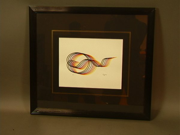 117: Yaacov Agam EA Serigraph Lines and Forms #3  Fra