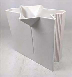 SERGIO ASTI Ceramic Modernist Vase. Italy Signed. Star