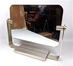 Mid Century Modern  Two Sided Vanity Mirror. Desk top m