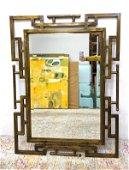 PHILIP and KELVIN LaVERNE Bronze Designer Mirror. Engra