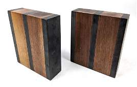 PAUL EVANS & PHILLIP LLOYD POWELL Bookends. Slate & Wal