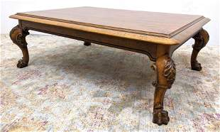 Large POLO RALPH LAUREN Coffee Cocktail Table. Carved c