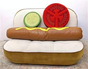 Job & SELETTI Hot Dog Bun Sofa Couch. Pop Culture Humor