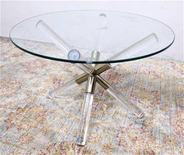 CHARLES HOLLIS JONES Coffee Cocktail Table with Lucite