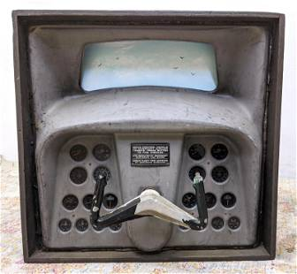 Industrial Art. Airplane Instrument panel with painted