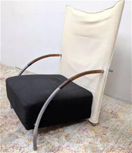 Post Modern LIGNE ROSET Canvas Sail Lounge Chair. Wrap