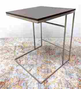 DESIRON Side Table. Metal with wood top.