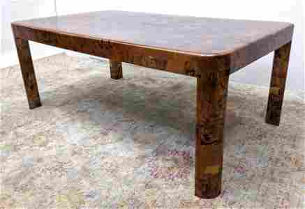 Paul Evans style Copper patchwork Dining Table. Copper
