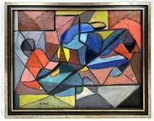 HENRIETTA JONES Abstract Modern Oil Painting on Canvas.