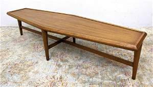 HERITAGE American Modern Walnut Coffee Table. Modernist
