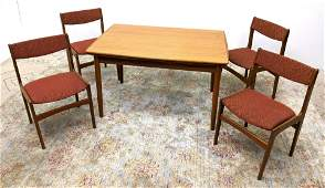 5pc Danish Teak Dining Set. Table and 4 Chairs. Refract