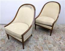 Pr Harvey Probber Style Lounge Chairs. Upholstered Slip