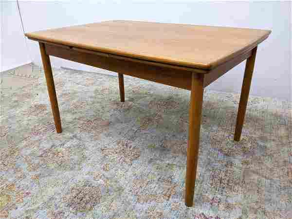 Danish Modern Teak Refractory Dining Table. Wdt is 84 w
