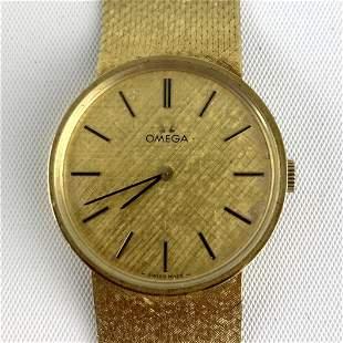 OMEGA 14K Gold Mens Wrist Watch.  25.7     14K weight w